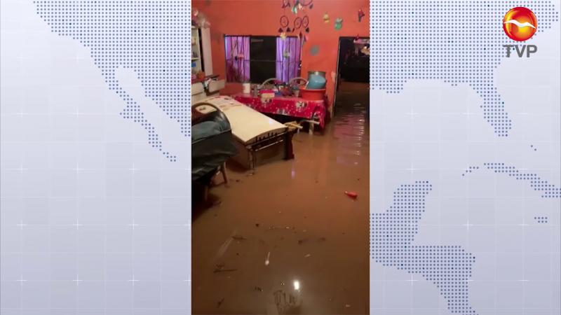 50 Familias afectadas por lluvia