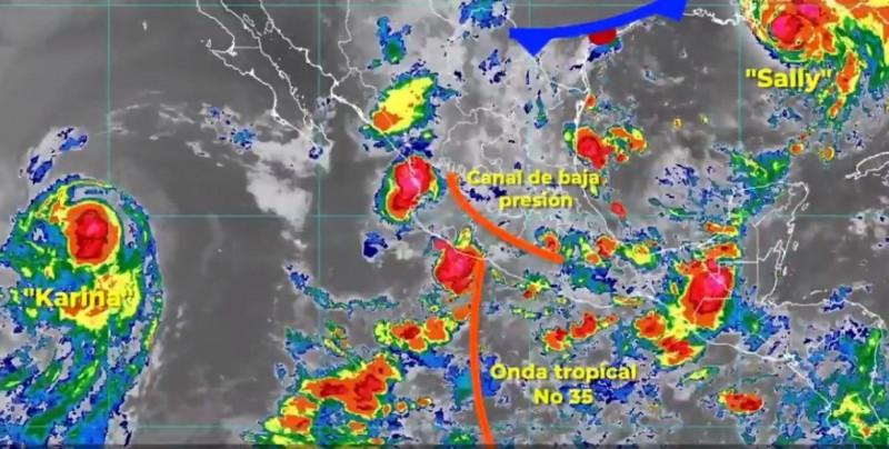 Conagua pronostica lluvias fuertes con descargas eléctricas para Sinaloa y aisladas para Sonora, este martes