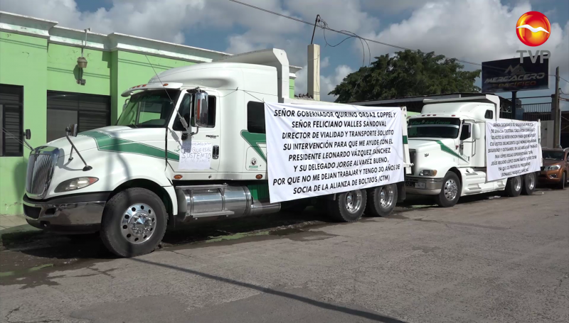 """Denuncia """"favoritismo"""" en la Alianza de Transportistas de Carga CTM"""