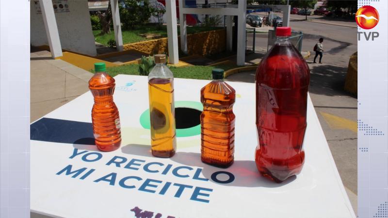 Buscan crear el hábito de reciclar aceite en Mazatlán