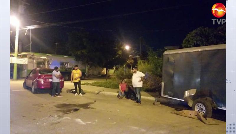 Vuelca vehículo conducido por mujer en supuesto estado de ebriedad