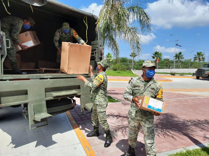 Siguen llegando medicamentos y equipo de protección contra covid a Sinaloa