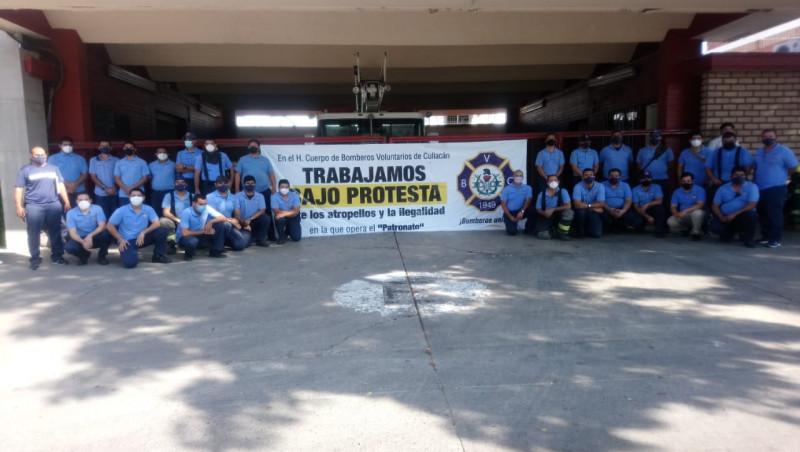 El fuego de nunca acabar, Bomberos de Culiacán bajo protesta