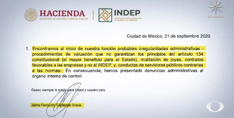 Ex director renuncia y denuncia robos en el Instituto Nacional para Devolverle al Pueblo lo Robado