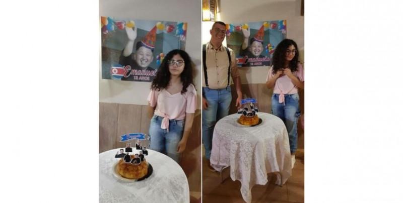 Ella es fanática del K-pop y su hermano le sorprende con una fiesta de Kim Jong-Un