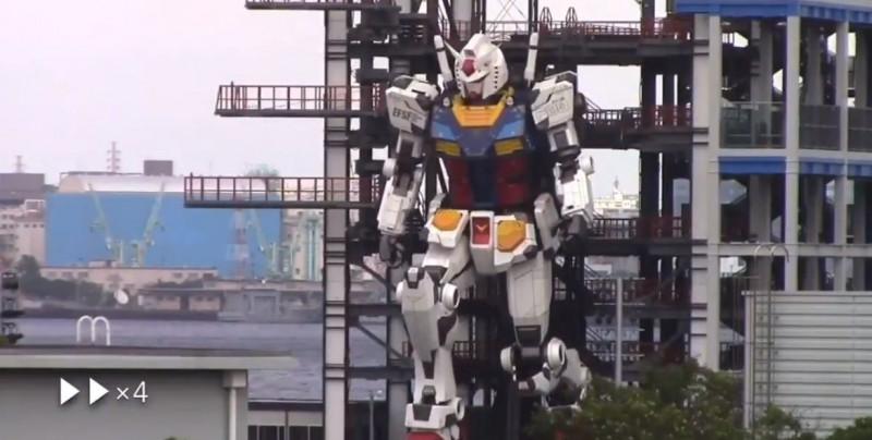 Video: Gundam gigante da sus primeros pasos y deja boquiabierto al mundo