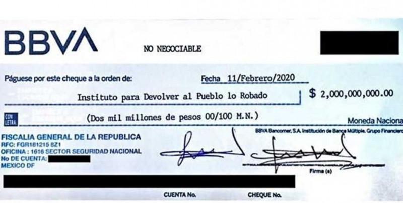 Rebotan cheque con el que pagarían los premios de la rifa del Avión Presidencial