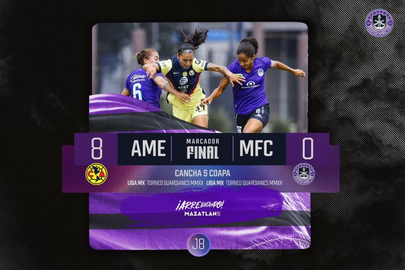 Mazatlán F.C. Femenil cae por goleada ante America