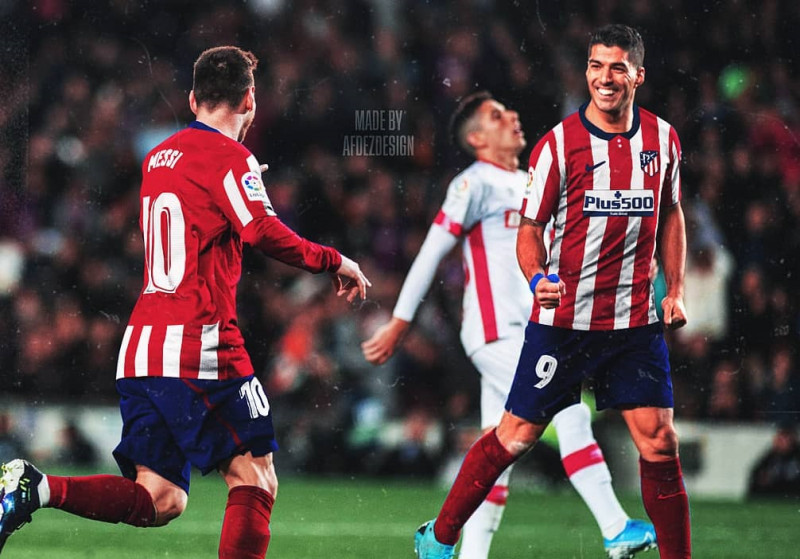 En Atlético de Madrid se ilusionan con juntar a Messi y Luis Suárez