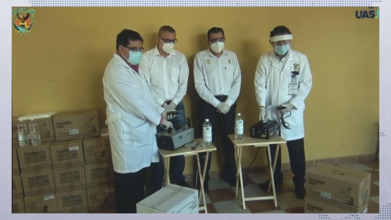 La UAS entrega  26 máquinas sanitizantes