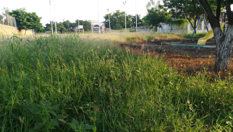En el abandono parque en la colonia 10 de mayo