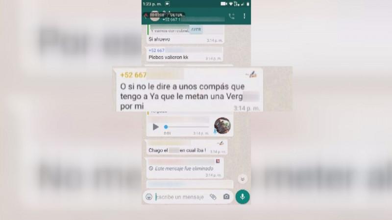 Estudiantes inundan grupos de whatsapp con insultos y amenazas