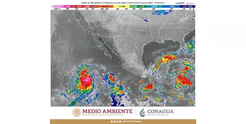 Esta es la trayectoria del huracán Marie (categoría 2 en el Pacífico)