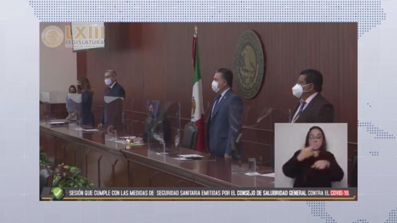 Arranca primer periodo de sesiones del tercer año de la 63 legislatura