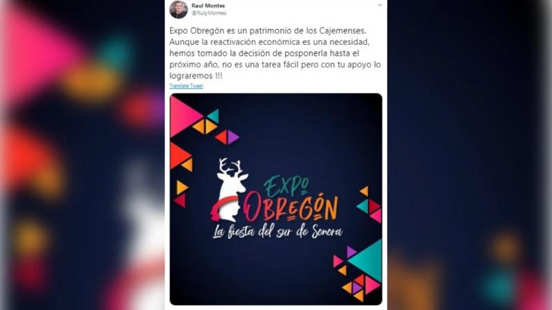 Confirmado Expo Obregon hasta el próximo año.