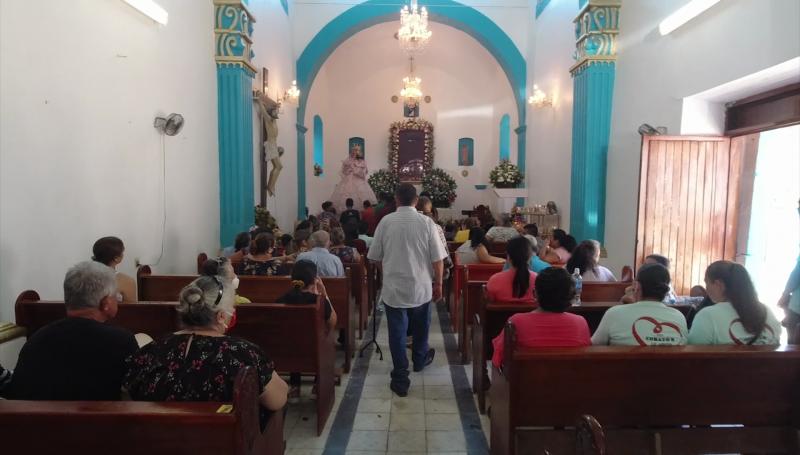 Pese a pandemia, realizan festejos a la virgen de Pánuco
