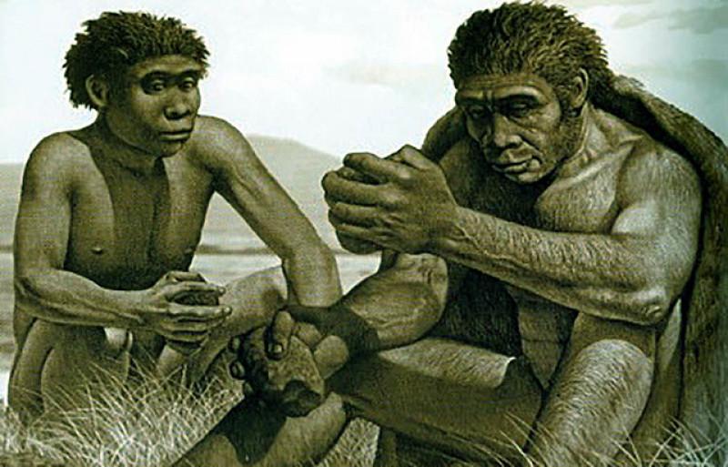Los antiguos homínidos calentaban con fuego las piedras para tallarlas