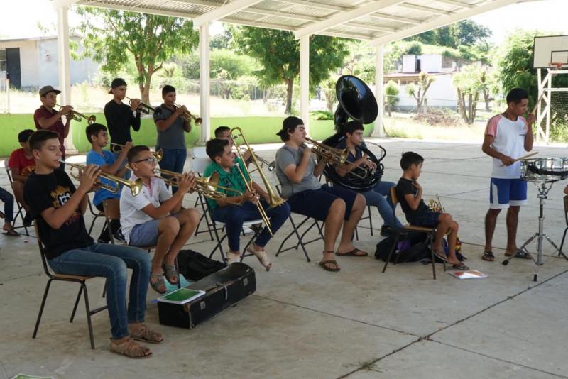 Cultura instala el Taller de Música de Banda Sinaloense en San Marcos
