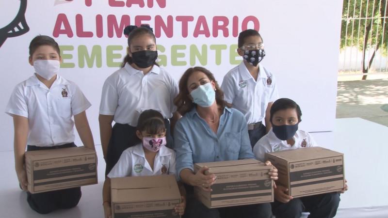 Entrega DIF Sinaloa paquetes alimentarios a familias con estudiantes de tiempo completo
