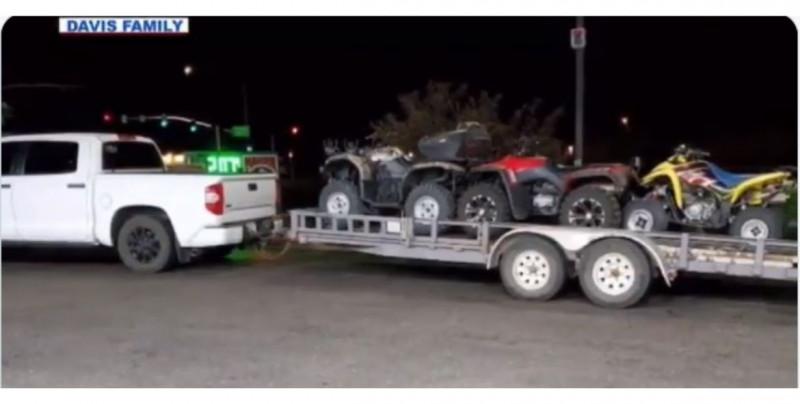 Familia estadounidense es asaltada y despojada de su camioneta y tres cuatrimotos