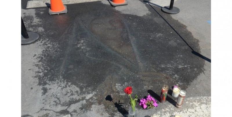Reaparece imagen de la Virgen que fue dibujada hace 13 años con gis en una calle transitada