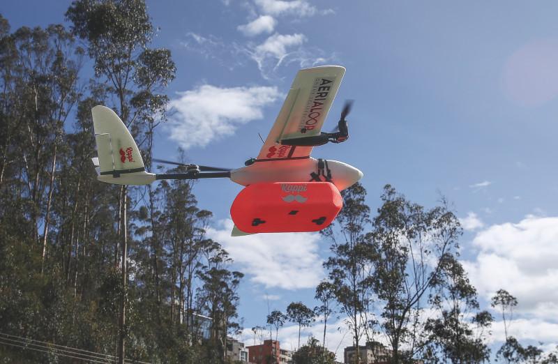 Ecuador estrena plan piloto para entregas a domicilio, con drones