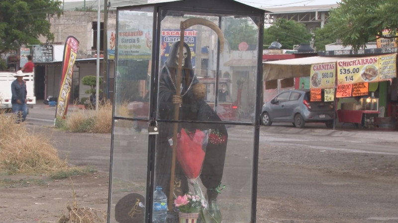 Colocan a la Santa Muerte en Chulavista