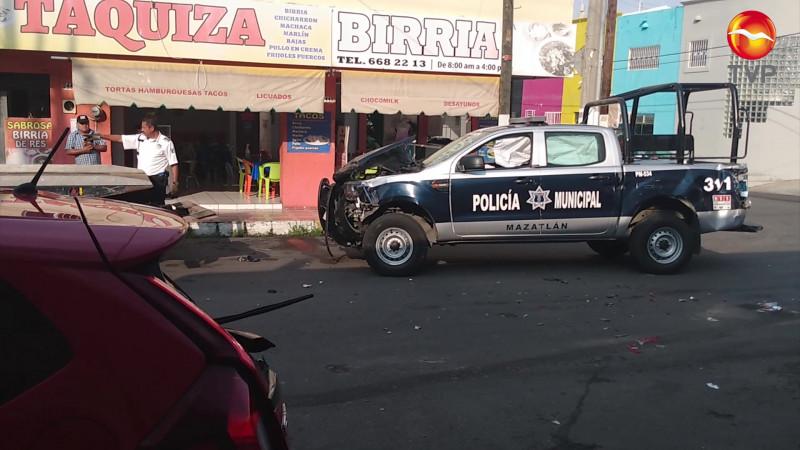Protagoniza patrulla municipal accidente en El Centro