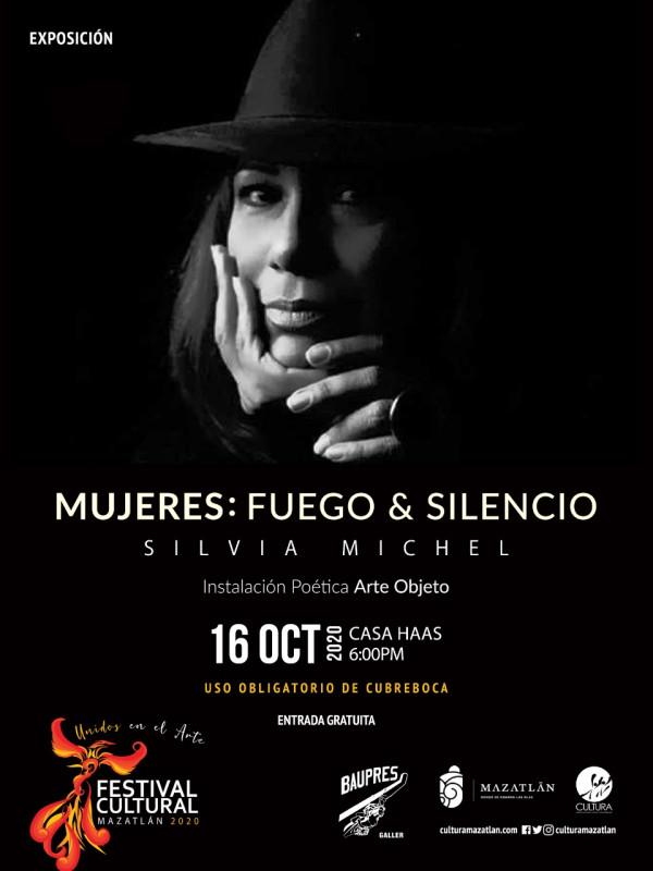 """Invitan a la inauguración de """"Mujeres: fuego y silencio""""."""