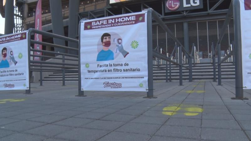 Obligatorias las medidas sanitarias para asistentes a los estadios