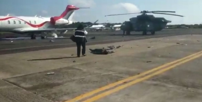 Se desploma helicóptero de la armada
