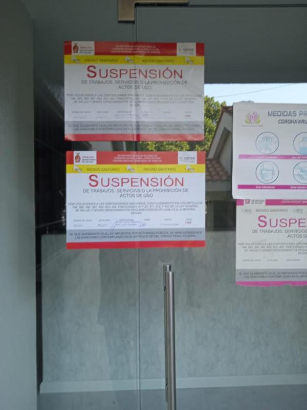 Clausuran clínica de cirugía estética en Culiacán