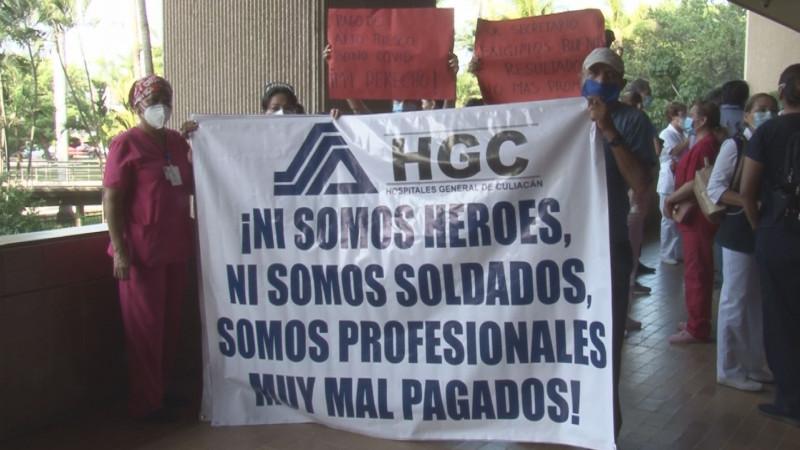 Trabajadores del HGC piden pago por alto riesgo