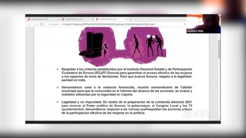 Red Feminista pide a IEEyPC aprobación de iniciativa 3de3