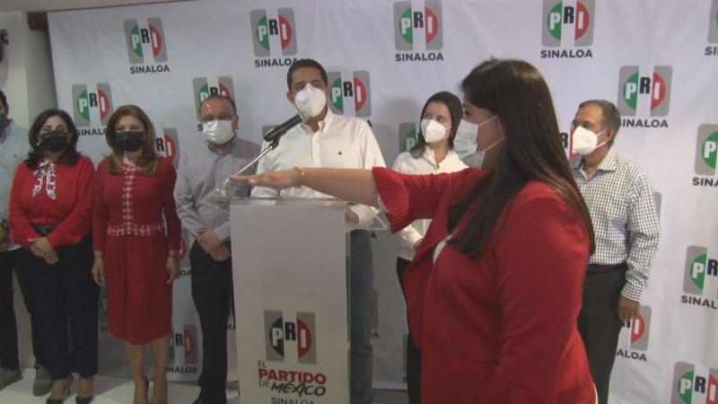 Mónica López  protesta como  Secretaria Adjunta de Presidencia del PRI Sinaloa