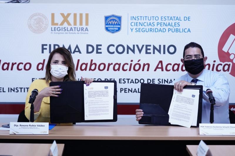 Firman convenio de colaboración académica Congreso del Estado e INECIPE