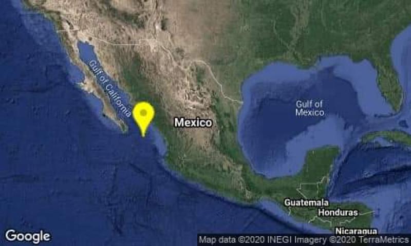 Se registra sismo en Mazatlán