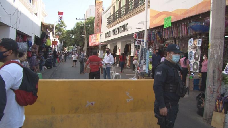 Poco a poco retirarán muros del centro de la ciudad de Culiacán