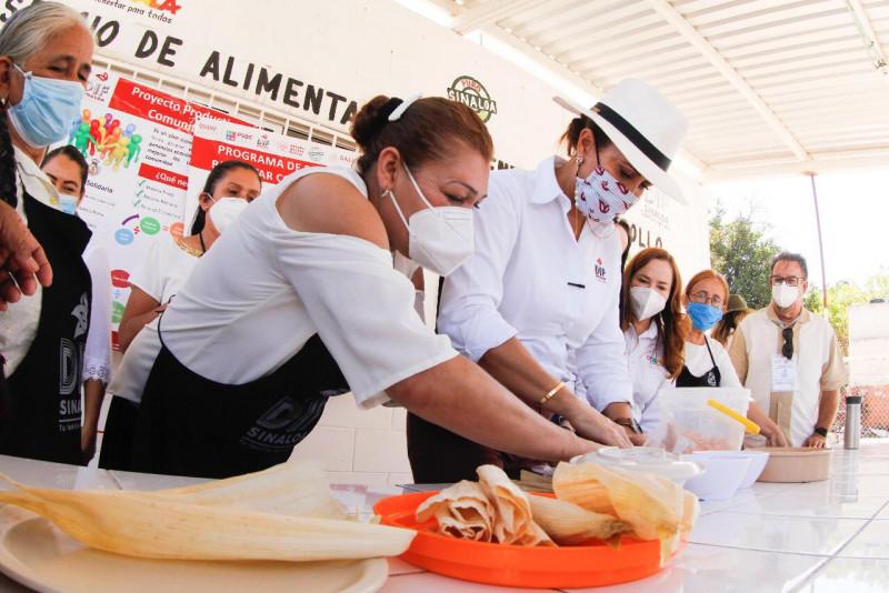 Entrega el DIF Sinaloa  apoyos de Proyecto Productivos de tamalerías a mujeres