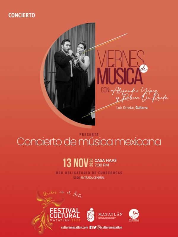 """Rebeca de Rueda en """"Concierto de música mexicana""""."""