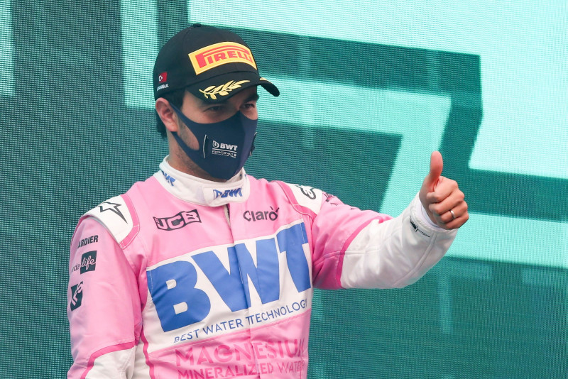 "Sergio ""Checo"" Pérez se sube al podio al terminar 2do. en GP de Turquía"
