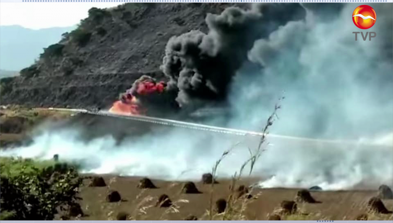 Explota pipa de gas sobre la la autopista Tepic-Guadalajara, al menos 12 muertos