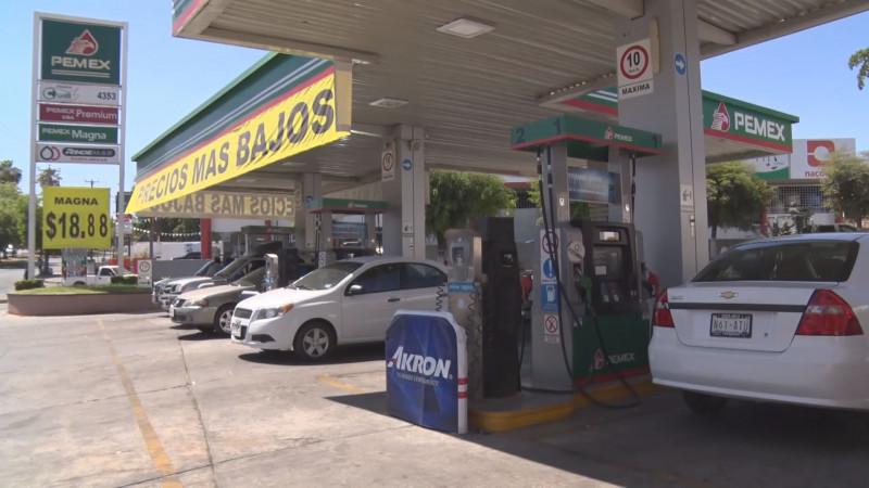 Culiacán tiene los precios más bajos y altos combustible