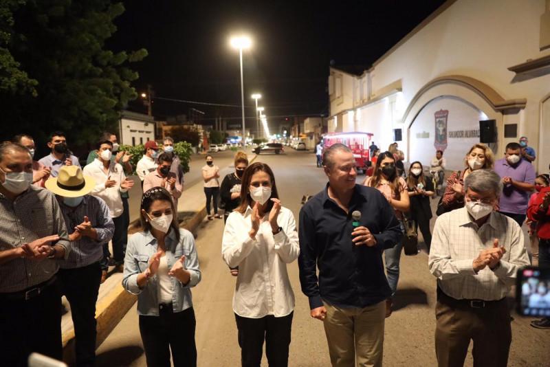 Inauguran  alumbrado Led del bulevar Rosales en Guamúchil