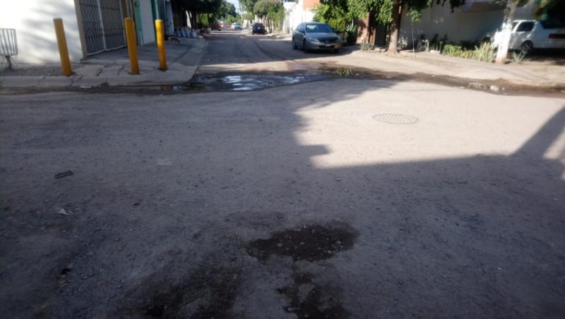 Sin atender la calle Lechuguillas en el Fraccionamiento San Benito