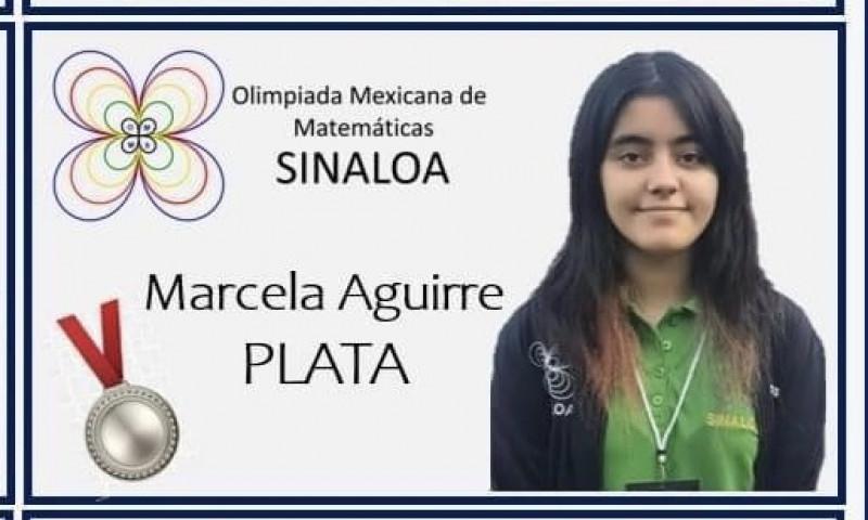 Alumna de la UAS gana medalla de plata en Olimpiada Mexicana de Matemáticas