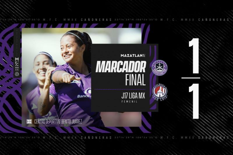 Mazatlán F.C. Femenil cierra su torneo Guardianes 2020 con empate