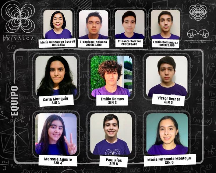 6 jóvenes sinaloenses hacen historia en la asignatura de matemáticas