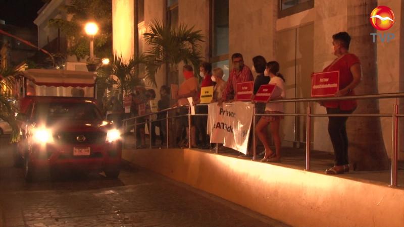 Se hartan del ruido y protestan en el Centro Histórico de Mazatlán