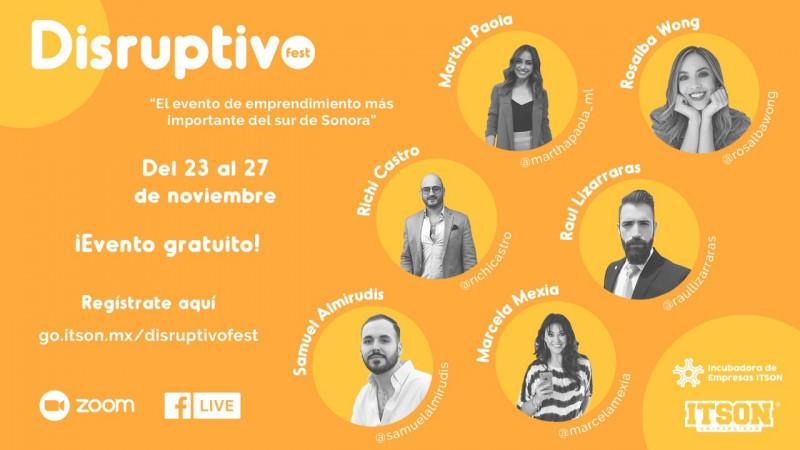 Invitan al Disruptivo Fest
